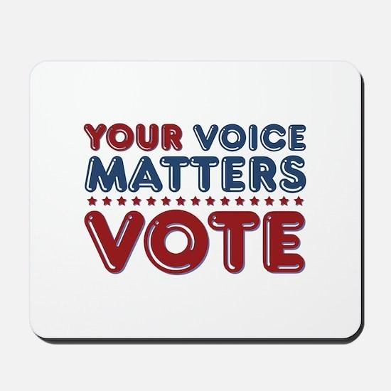 Your Voice Matters Mousepad
