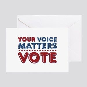 Your Voice Matters Greeting Card