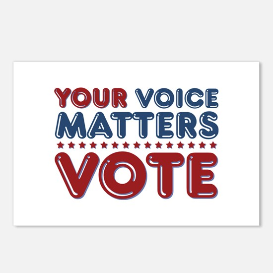 Your Voice Matters Postcards (Package of 8)