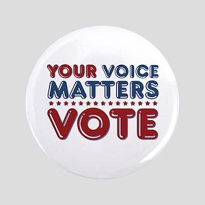 "Your Voice Matters 3.5"" Button"