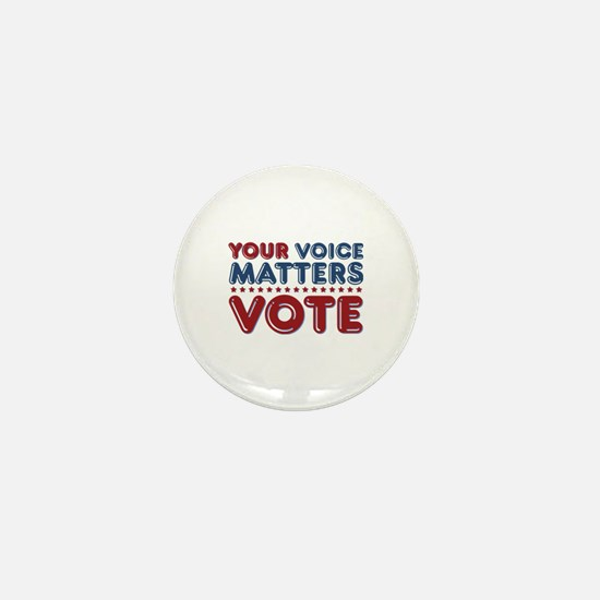 Your Voice Matters Mini Button