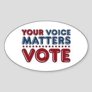 Your Voice Matters Sticker (Oval)