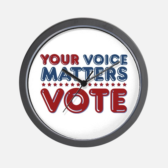 Your Voice Matters Wall Clock
