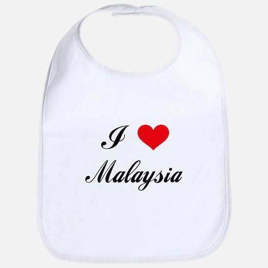 I Love Malaysia Bib