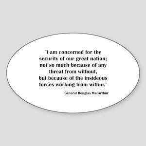 Threat Within Oval Sticker