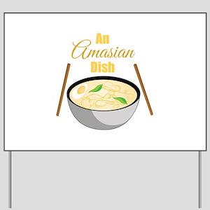 Amasian Dish Yard Sign