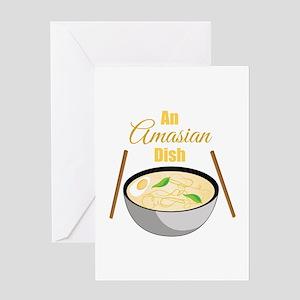 Amasian Dish Greeting Cards
