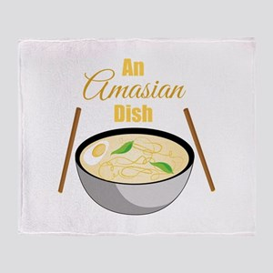 Amasian Dish Throw Blanket
