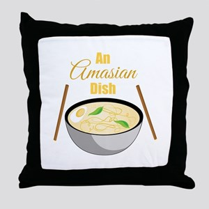 Amasian Dish Throw Pillow