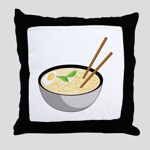 Pho Soup Throw Pillow