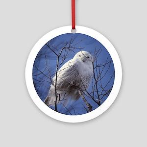 Snowy White Owl Ornament (Round)