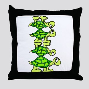STACK OF TURTLES Throw Pillow