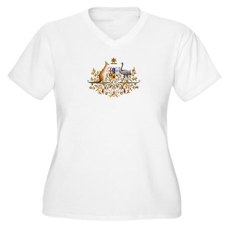 Coat of Arms of Australia - Aust Plus Size T-Shirt