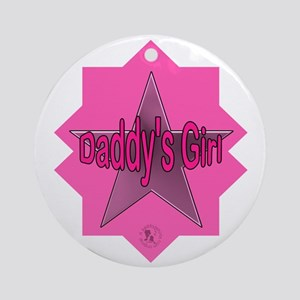 Daddy's Girl (Star) Ornament (Round)