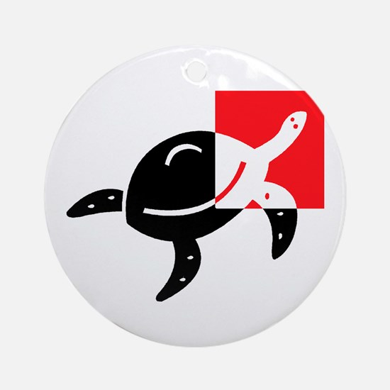 Turtle_1 Ornament (Round)