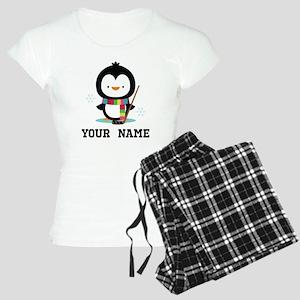 Hockey Penguin Personalized Pajamas