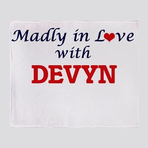 Madly in love with Devyn Throw Blanket