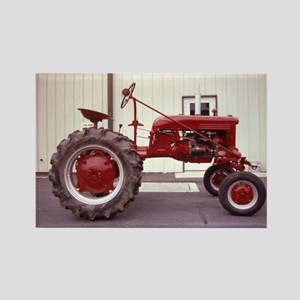 Ole Red Tractor Rectangle Magnet