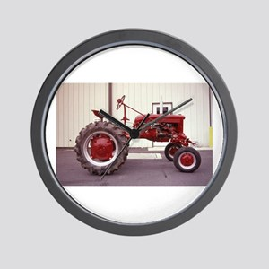Ole Red Tractor Wall Clock