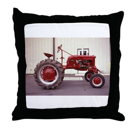 Ole Red Tractor Throw Pillow