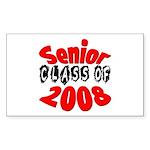 Senior Class of 2008 Rectangle Sticker