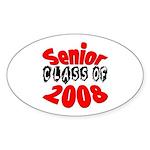 Senior Class of 2008 Oval Sticker