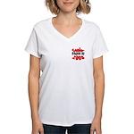 Senior Class of 2008 Women's V-Neck T-Shirt