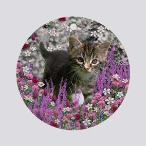 Emma in Flowers I Ornament (Round)