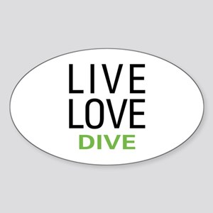 Live Love Dive Sticker (Oval)