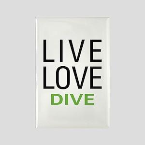 Live Love Dive Rectangle Magnet