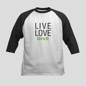Live Love Dive Kids Baseball Jersey