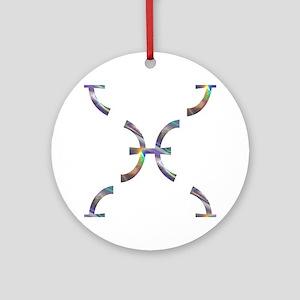 hologram pisces Round Ornament
