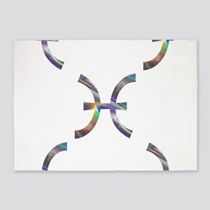 hologram pisces 5'x7'Area Rug