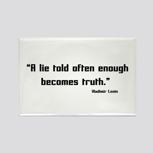 Truth and Lies Rectangle Magnet