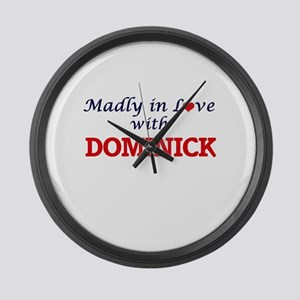 Madly in love with Dominick Large Wall Clock