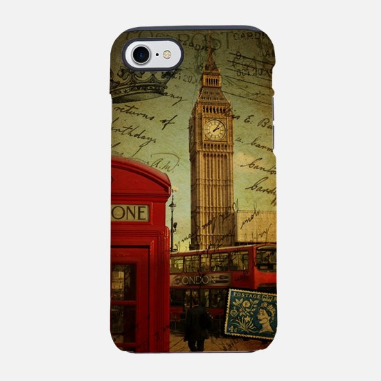 london red telephone booth iPhone 8/7 Tough Case