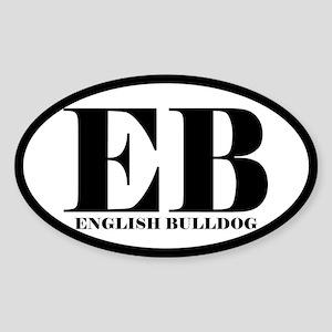 EB Abbreviation English Bulldog Sticker