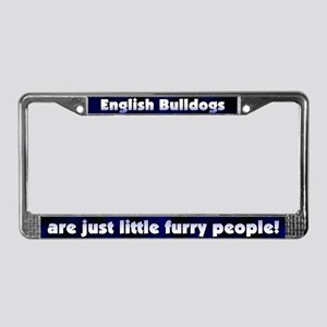 Furry People English Bulldogs License Plate Frame