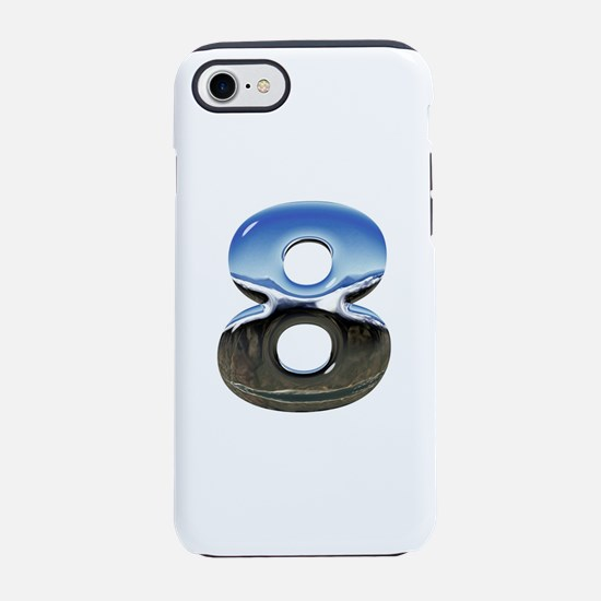 Chrome Number 8 iPhone 8/7 Tough Case