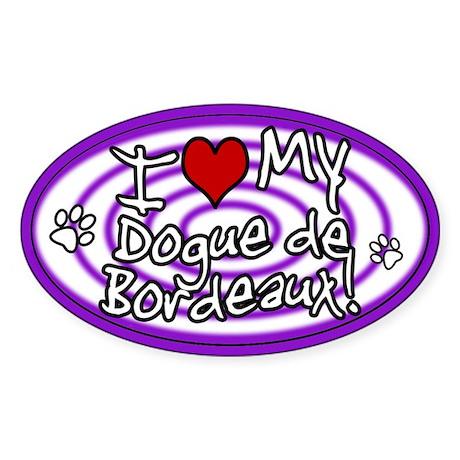 Hypno I Love My Dogue de Bordeaux Sticker Purp