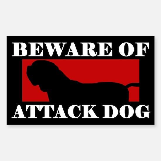 Beware of Attack Dog Dogue de Bordeaux Decal