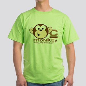 MonkeyC Front/Back Logo Green T-Shirt