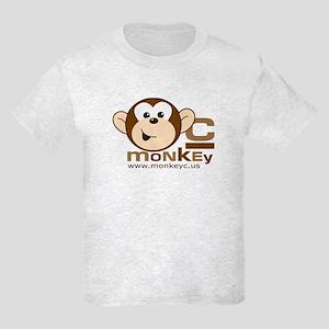 MonkeyC Front/Back Logo Kids Light T-Shirt