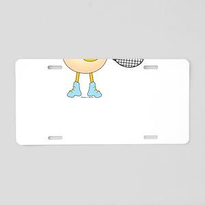 Tennis Egghead Aluminum License Plate