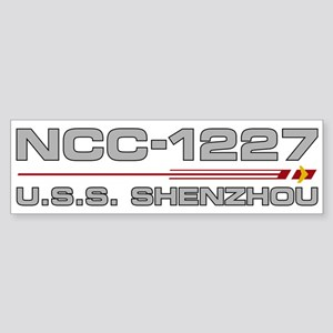 USS Shenzhou - Grey Hull Edition Bumper Sticker