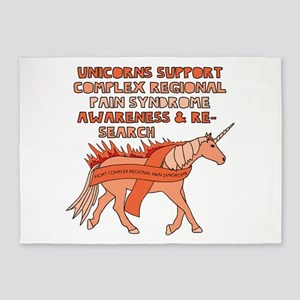 Unicorn Support Complex Regional Pa 5'x7'Area Rug