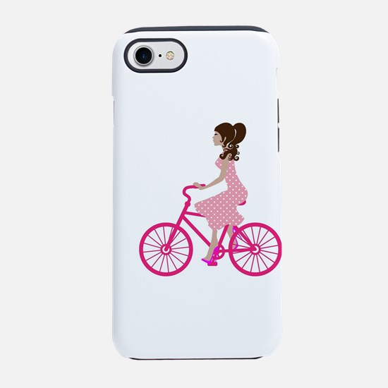 Pink Bicycling iPhone 8/7 Tough Case