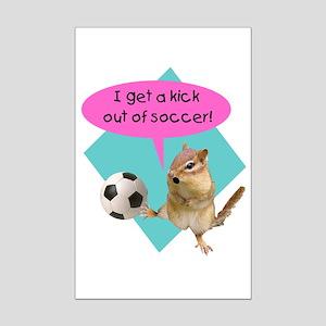 Soccer Kick Mini Poster Print