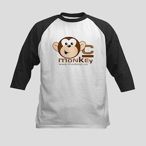 Front/Back MonkeyC Logo Kids Baseball Jersey