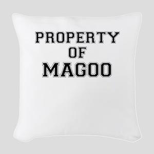 Property of MAGOO Woven Throw Pillow
